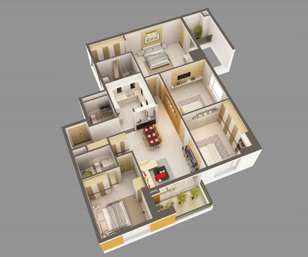 House inside 3d model