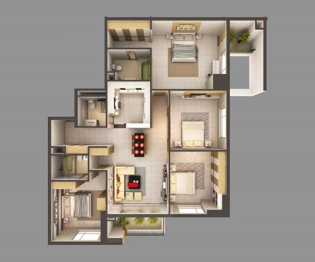 3d Model Detailed House Interior 2 3d Model Max 2
