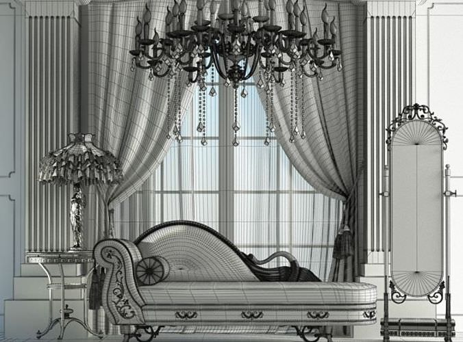 Royal Lounge Scene3D model