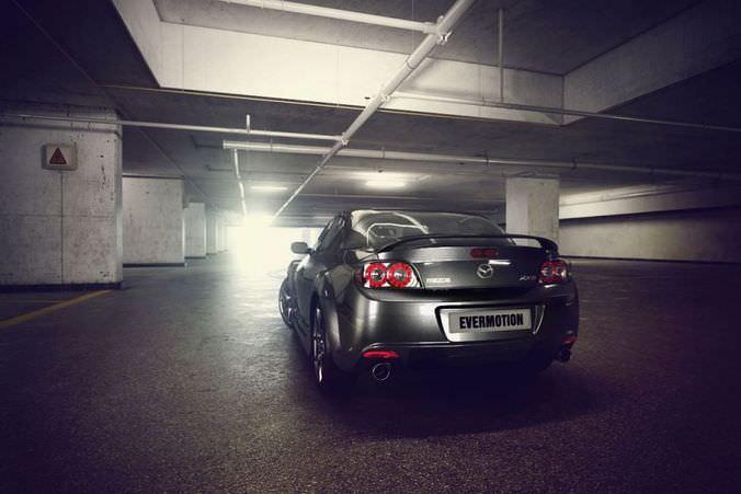 Parking Lot And Mazda Car3D model