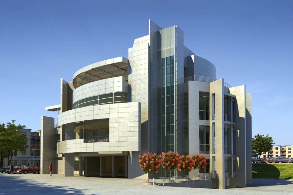 Modern office building exterior 3d model max for Exterior 3d model