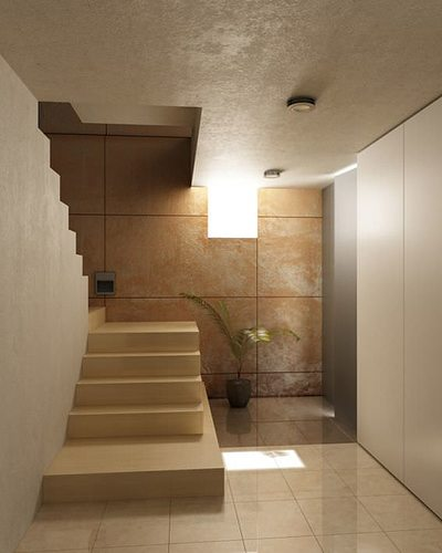 3d interior stairs corridor cgtrader for Escaleras 3d max