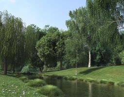 3d model realistic tress collection