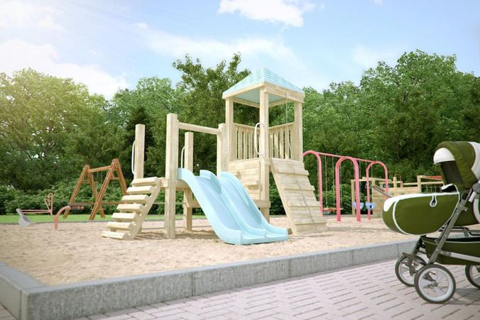 Children Playground Collection3D model