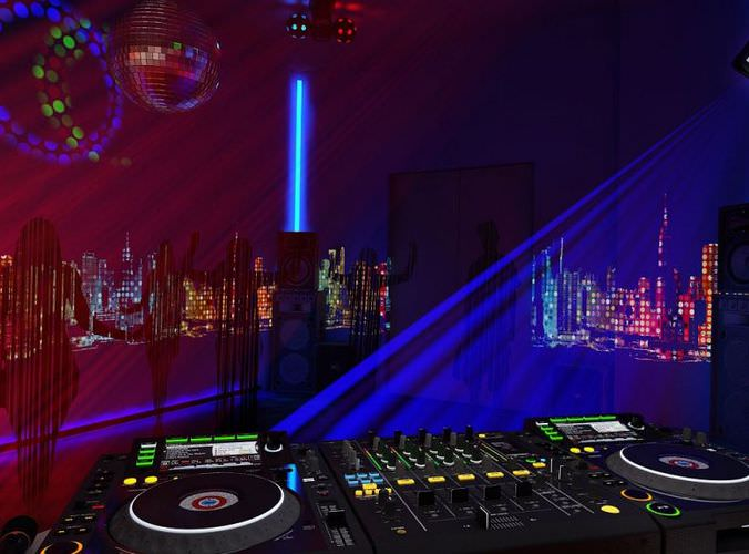 Night Club Equipments Collection3D model