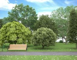 realistic tree collection 3d model