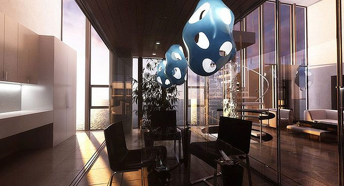 realistic lamp collection 3d model  1