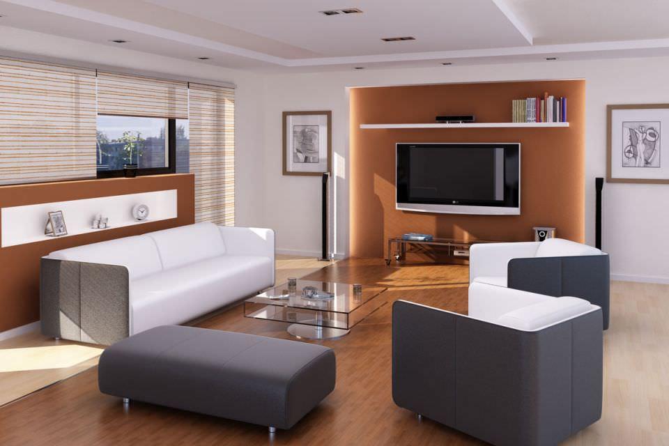 Modern Living Room 3d Model C4d 1 ...