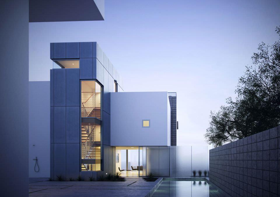 Exterior: 3D Model Exterior Modern House Scene