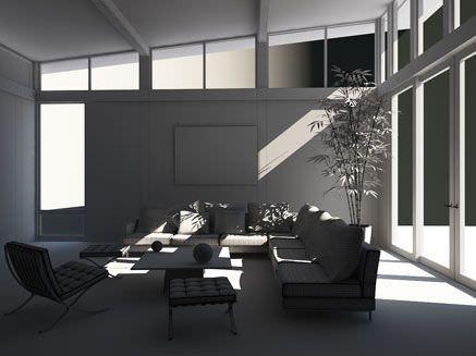 Cozy Living Room Scene3D model