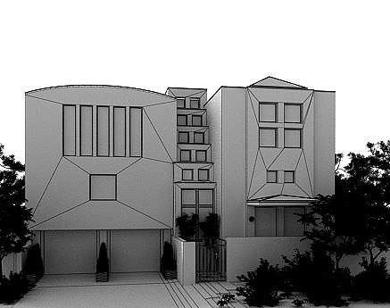 modern cottage house 3d model max 1