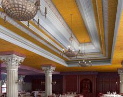 Spacious Elegant Restaurant 3D model