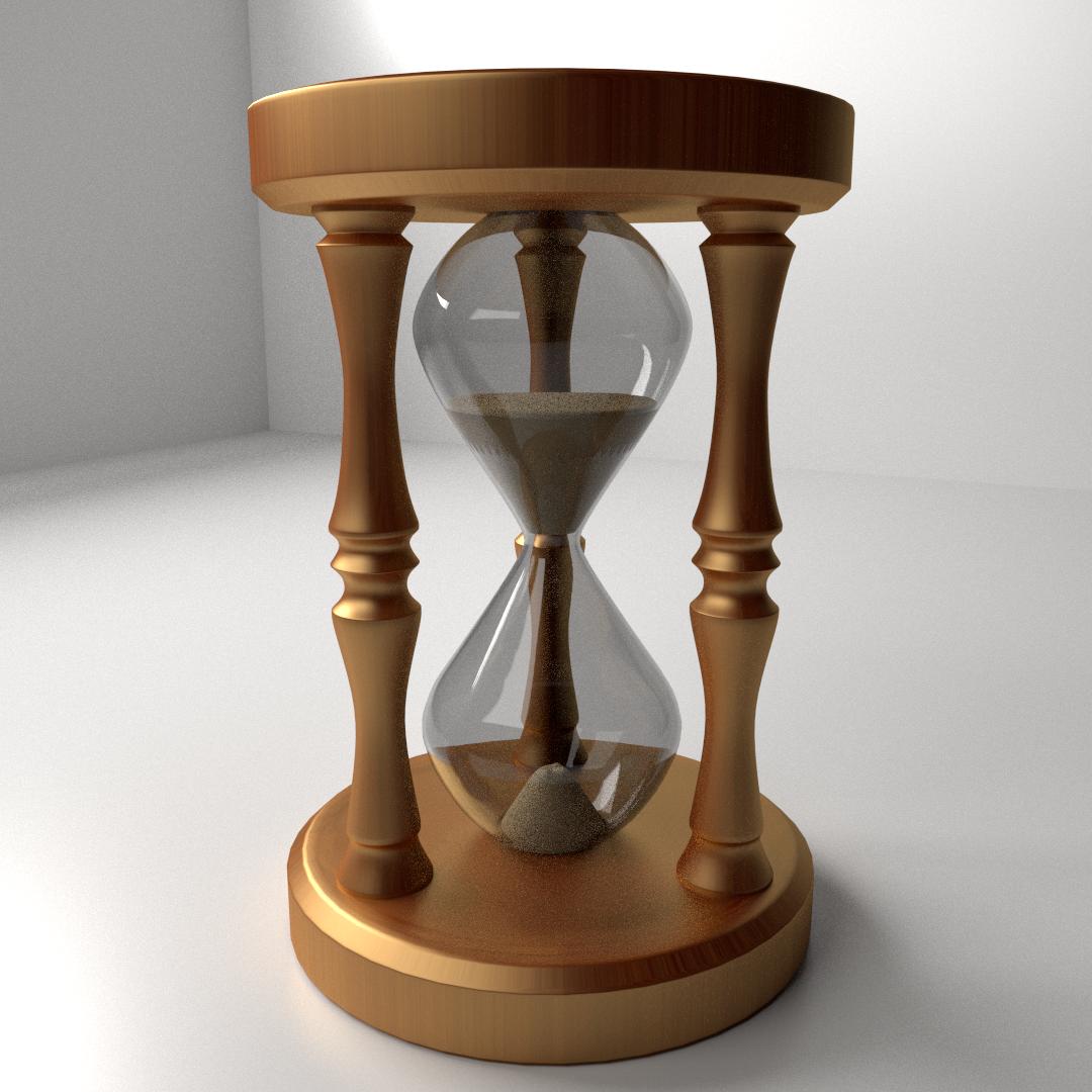 Hourglass 3d Model 3ds Fbx Blend Dae Cgtrader Com