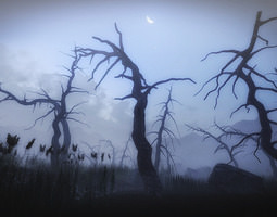 game-ready 30 Dead Tree Models for Games