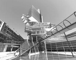 3D Modern City Center Building