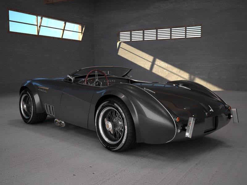 Austin Healey 1004 V8 Custom 3d Model Max Obj 3ds Fbx