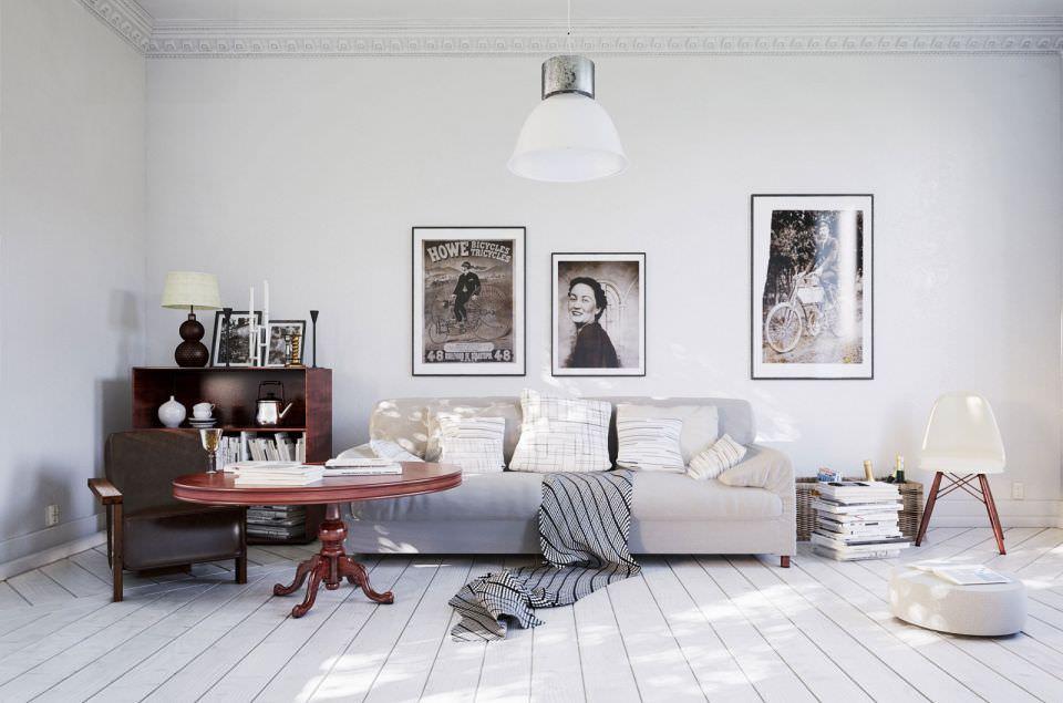 Scandinavian Style Living Room 3D Model CGTradercom