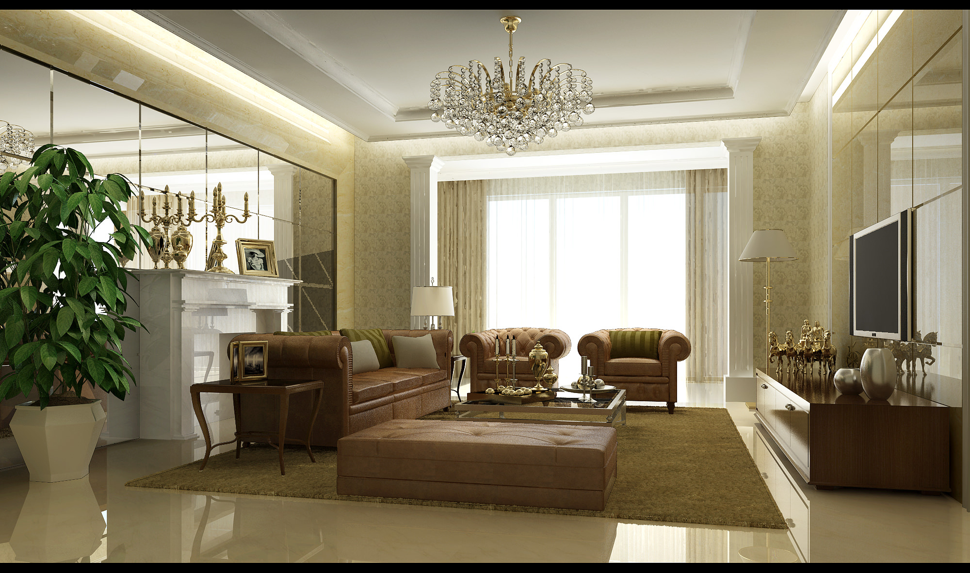 Living Room 3d Model classic living room 3d | cgtrader
