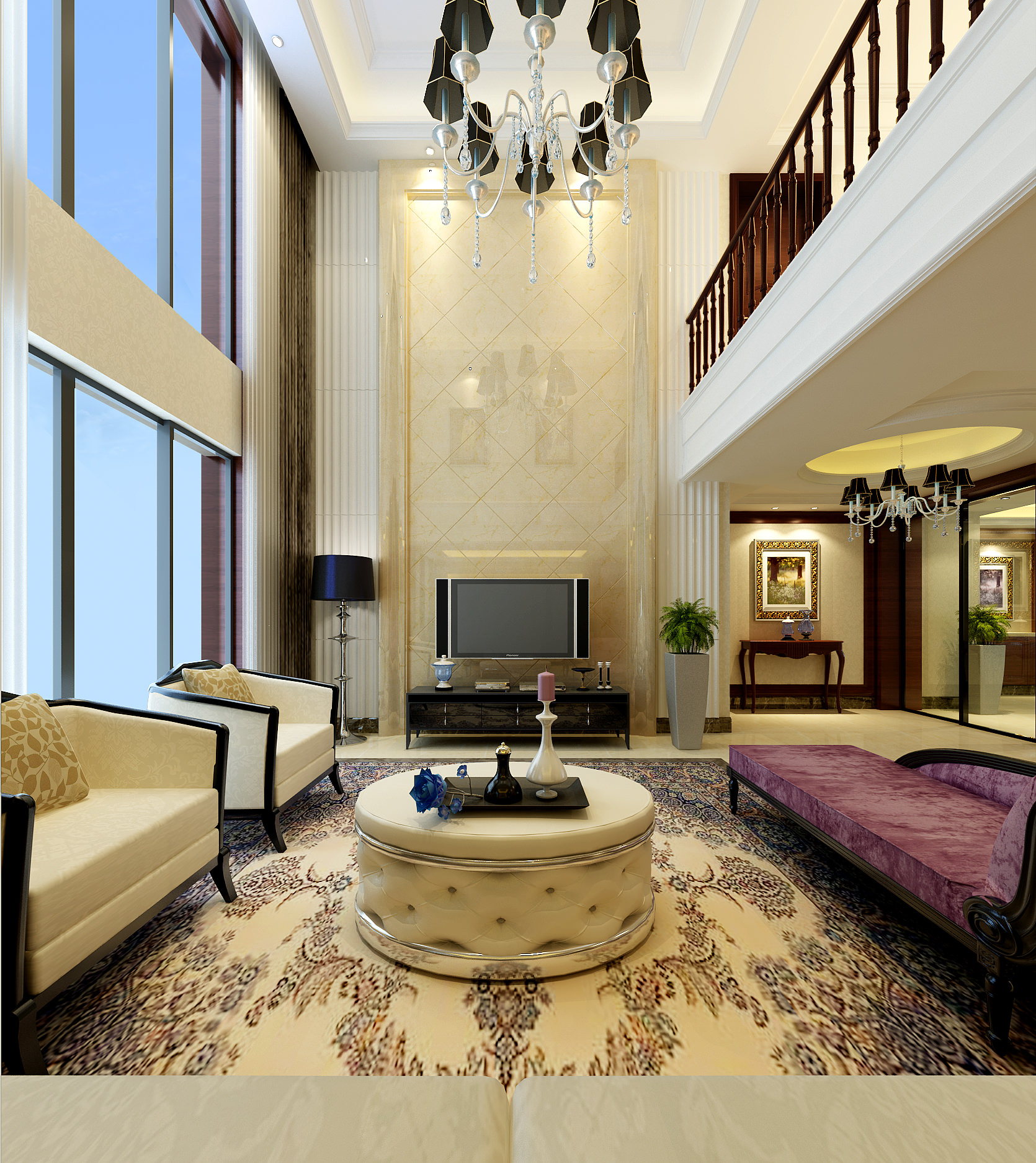 33 Staircase Designs Enriching Modern Interiors With: Modern Living Room With Stairs 3D Model .max