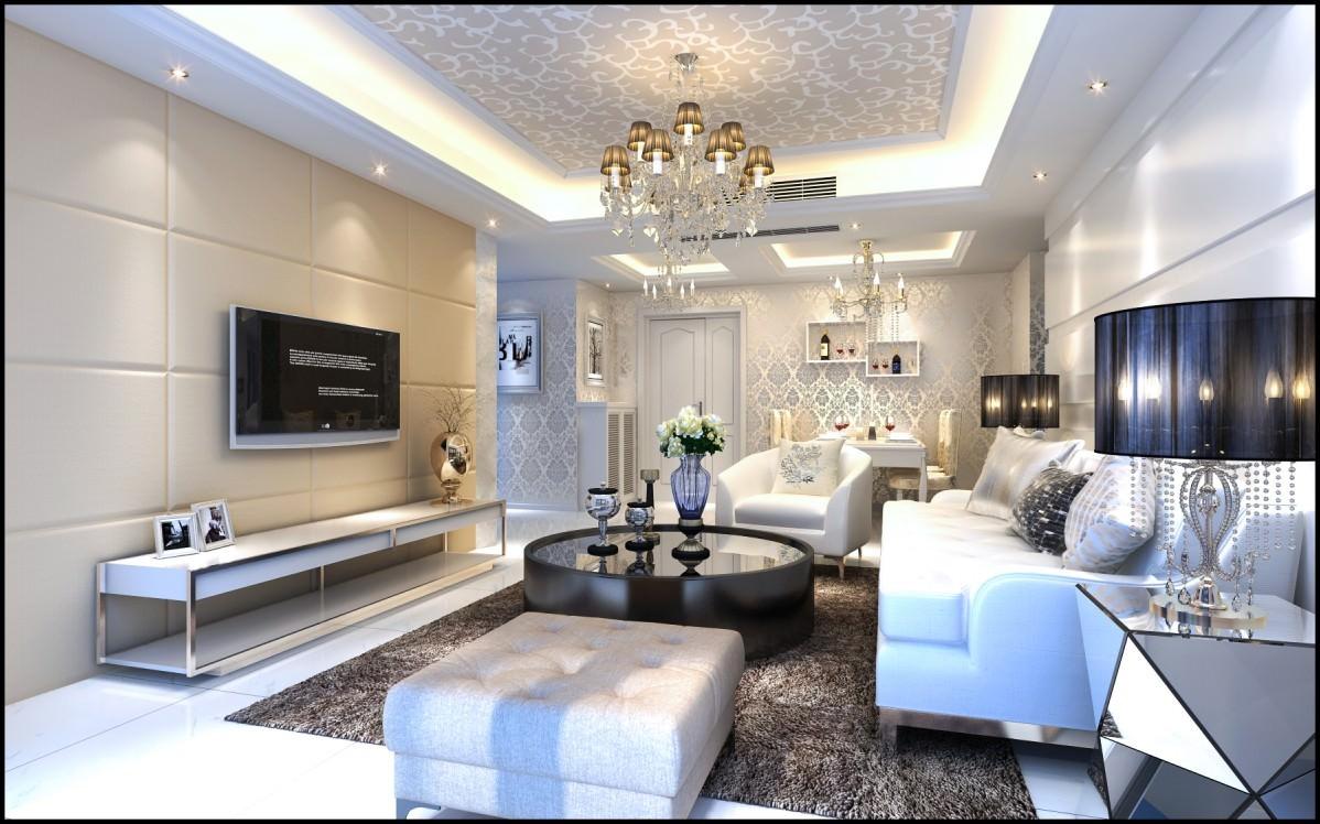 Modern Bright Living Room 3d Model Max