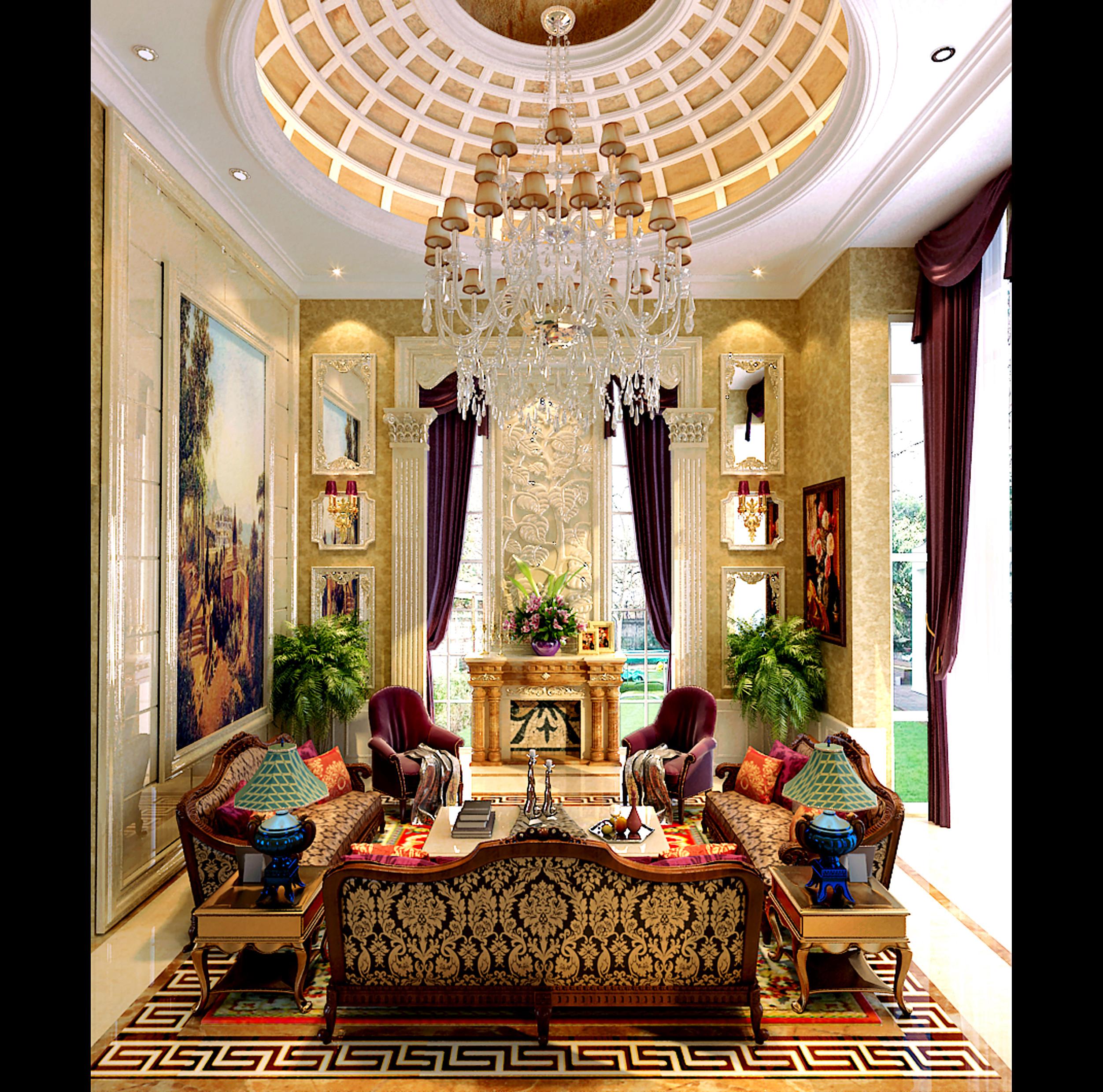 30 Modern Living Room Design Ideas To Upgrade Your Quality: Versace Living Room Set
