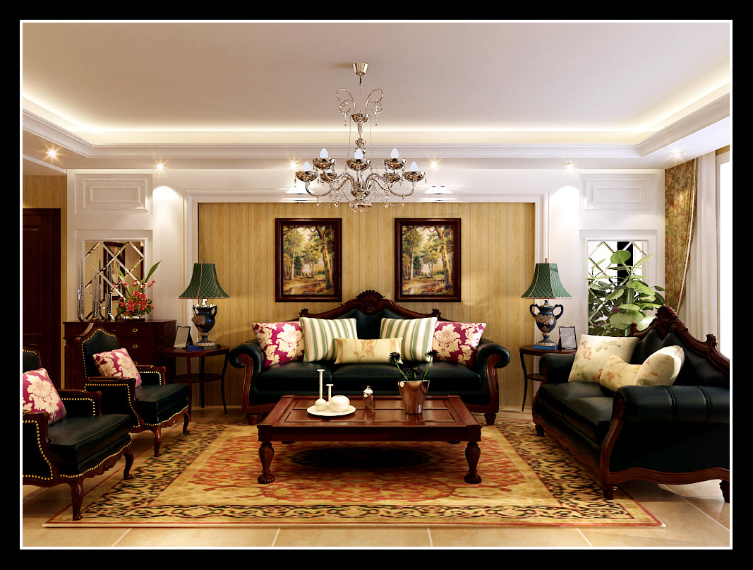 Luxurious Living Room With Royal Furniture 3D Model MAX