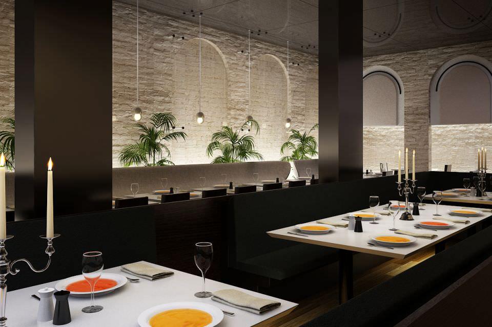 Restaurant Kitchen 3d Model modern restaurant interior 3d model | cgtrader