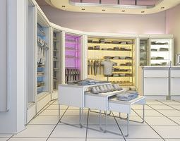 3D model Clothes Shop Interior