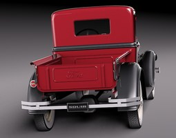 Ford Model A Pickup 1930 3D Model
