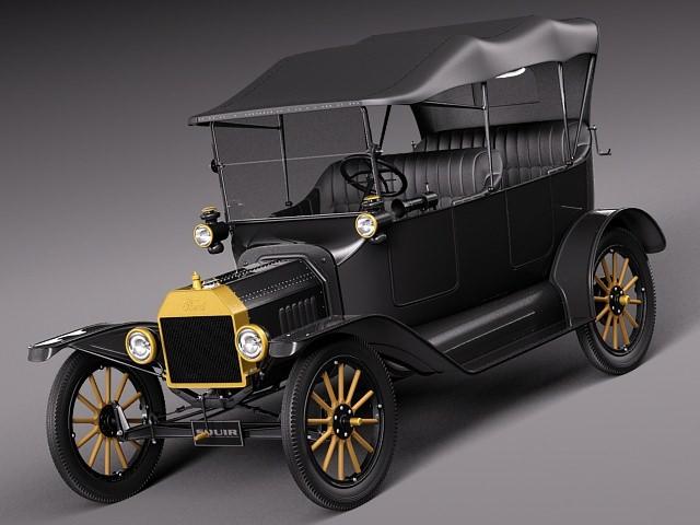 ford model t convertible long 1908 1927 3d model max obj 3ds fbx c4d lwo lw lws. Black Bedroom Furniture Sets. Home Design Ideas