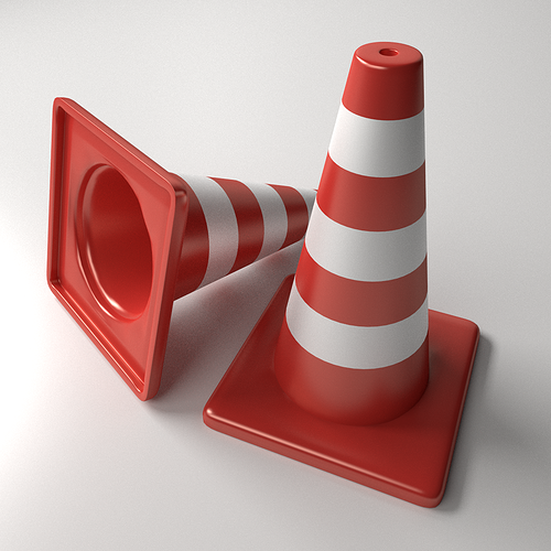 traffic cones 3d model 3ds fbx blend dae 1