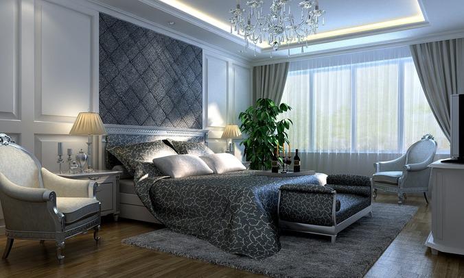Luxurious Bedroom3D model