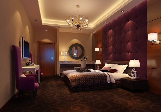 Luxurious Bed Room3D model