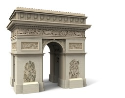 Arc d Triomphe Paris 3D model