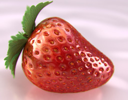 Strawberry Beauty 3D Model