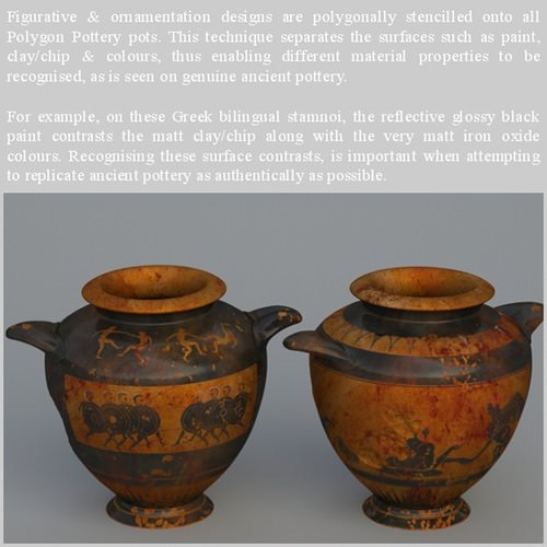 Greek Bilingual Various Subjects Collection I Single Piece Pottery GRKvs1BI01 3D Model .obj .lwo .lw .lws