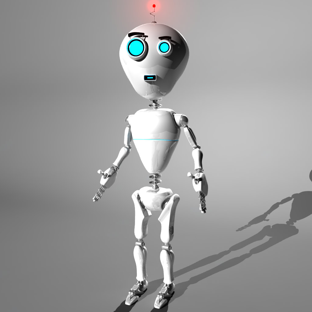 Cute Robot 3d Model Rigged Ma Mb Cgtrader Com