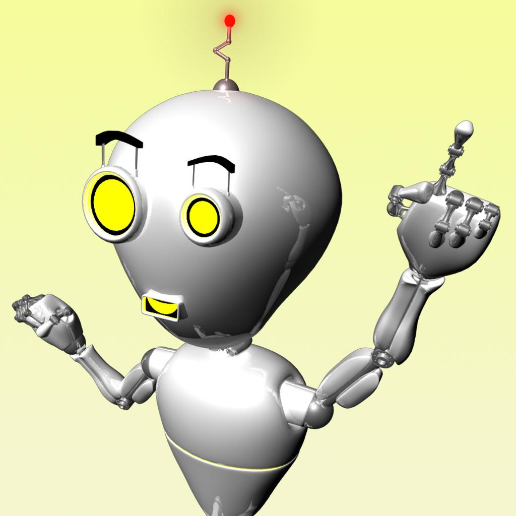 cute robot 3d model rigged ma mb  cgtrader