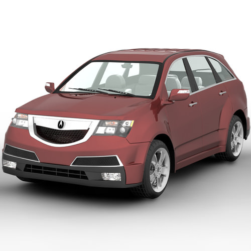 Acura MDX SUV 2011 3D Model MAX OBJ C4D MA MB MTL