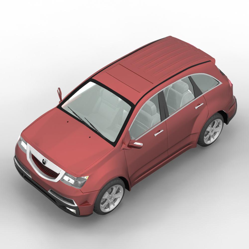 New Acura Suv: Acura MDX SUV 2011 3D Model MAX OBJ C4D MA MB MTL
