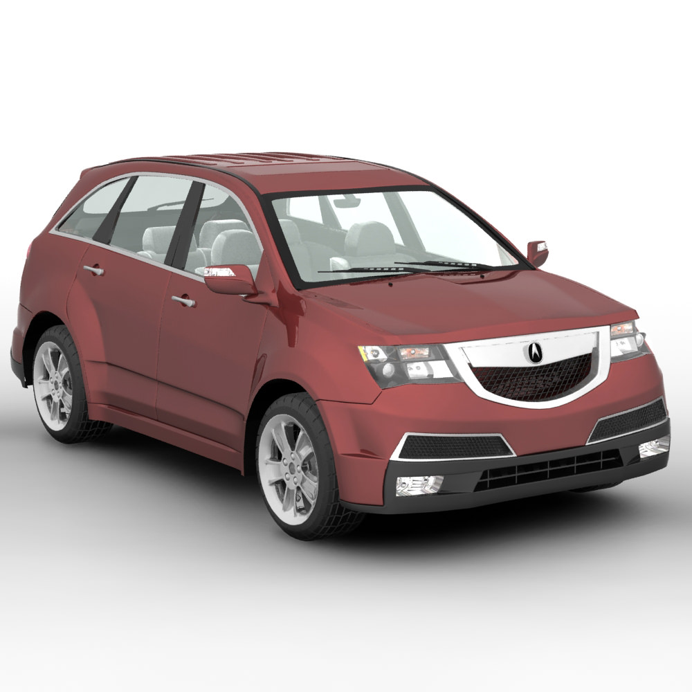 Acura MDX SUV 2011 3D Model .max .obj .c4d .ma .mb