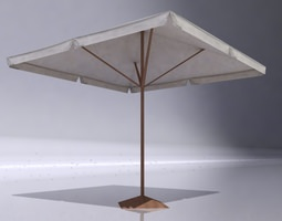 low Parasol 3D model