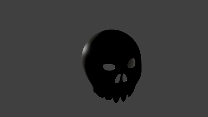 cheap decorative skull 3d model blend 1