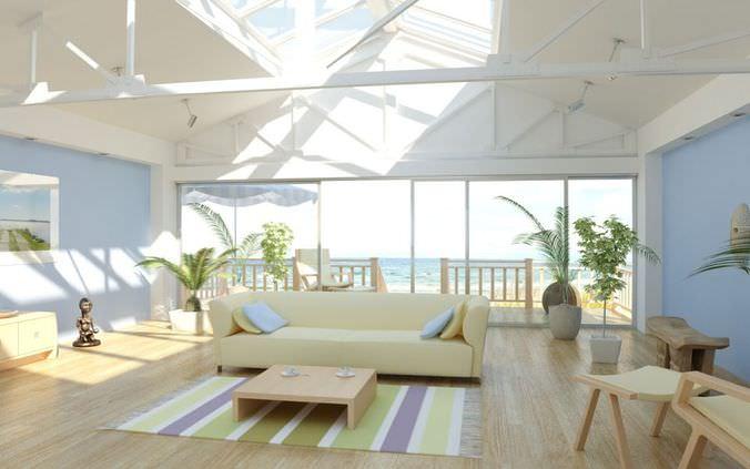 Seaside Villa Living Room3D model