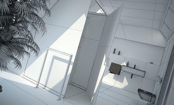 Modern bathroom interior design 3d model cgtrader for Bathroom interior design 3d