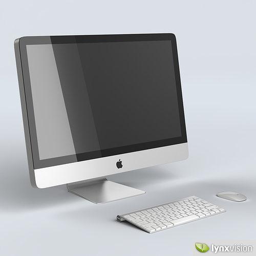 apple imac 27 desktop computer 3d model max obj mtl fbx 1