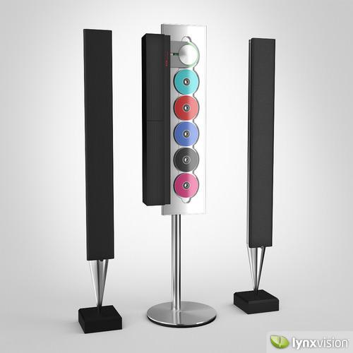 bang olufsen audio system 3d model max obj fbx. Black Bedroom Furniture Sets. Home Design Ideas