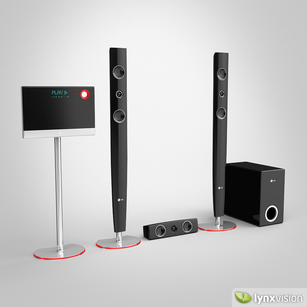 Lg Home Theater 3d Model