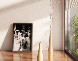 Vases with branch 3D model