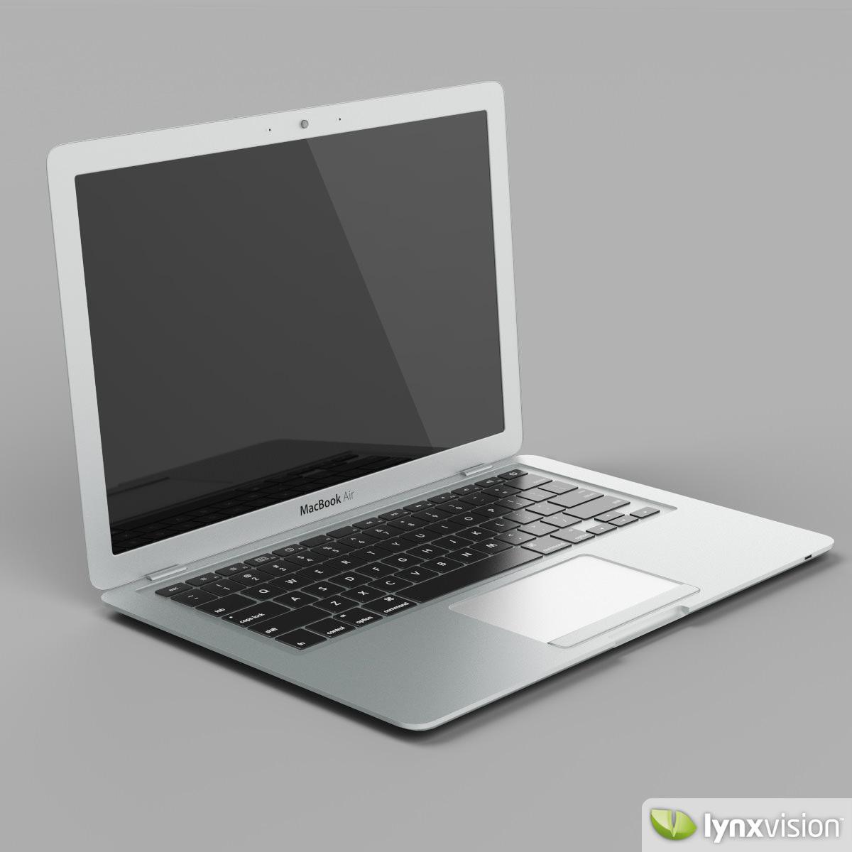 Apple MacBook Air Notebook 3D Model .max .obj .fbx ...